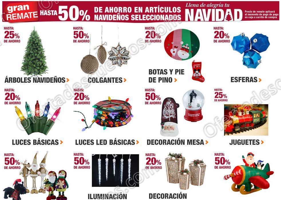 The home depot gran remate hasta 50 de descuento en for Productos de navidad