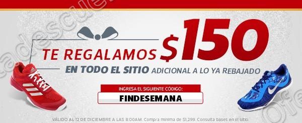 Netshoes: Cupón de $150 en Toda la Tienda al 12 de Diciembre