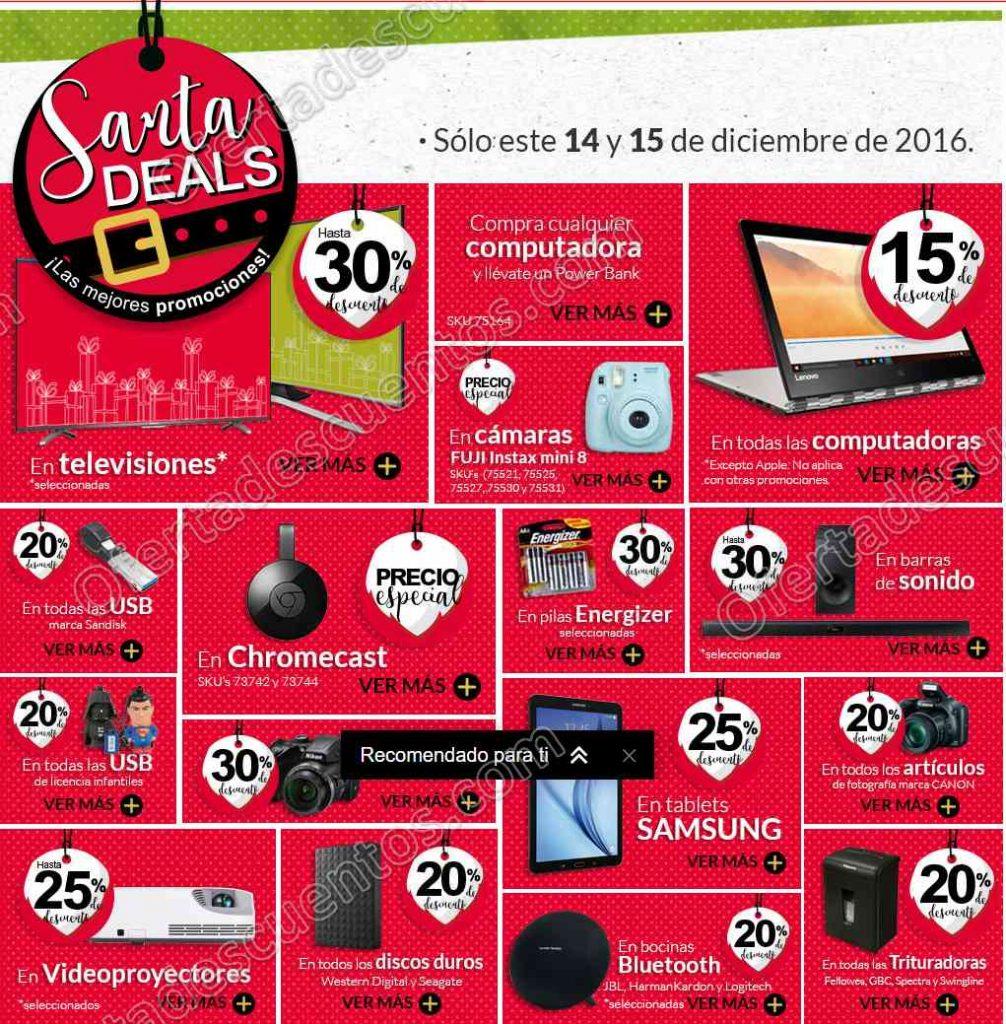 Office Depot: Santa Deals 14 y 15 de Diciembre 2016