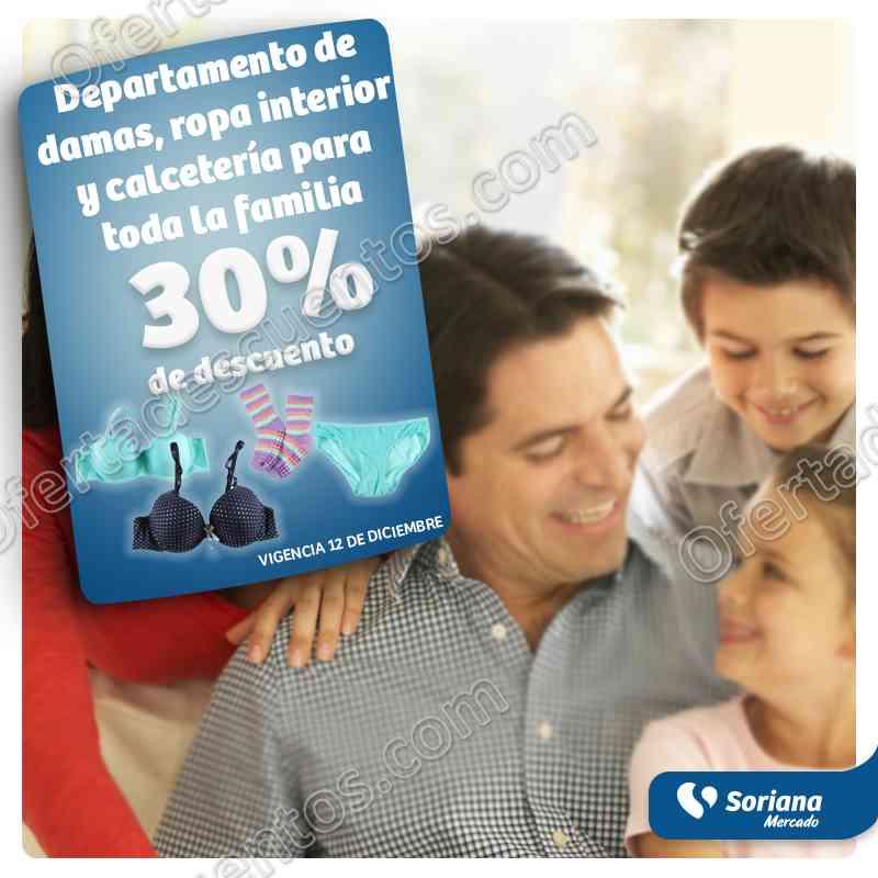 Soriana Mercado: 50% de descuento en Navidad y 30% de descuento en ropa interior y más
