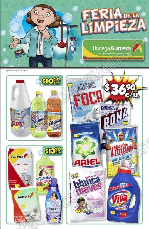"Bodega Aurrera: Folleto de ofertas ""Feria de la limpieza"" del 9 al 24 de Enero"