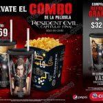 Cinemex combo resident Evil OFFDE 2017