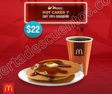 McDonald's: Cupones del Martes de McDonald's 31 de enero Hot Cakes más Café por $22