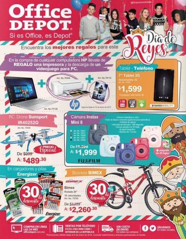 Office Depot: Promociones Día de Reyes al 8 de Enero