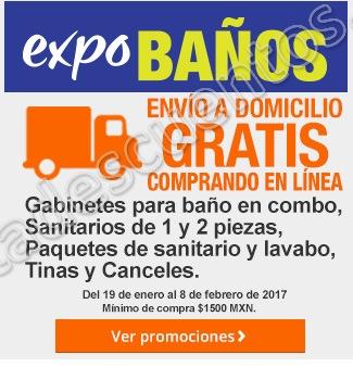 The Home Depot: Expo Baños envío gratis y descuentos en tinas, combos, baños y más sólo por Internet