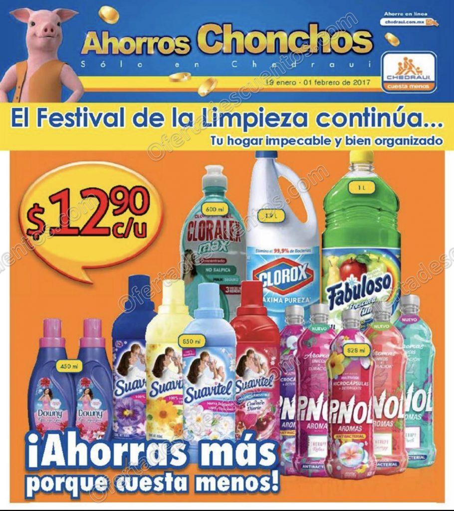 """Chedraui: Folleto de Promociones """"Festival de la limpieza"""" del 19 de enero al 1 de Febrero"""