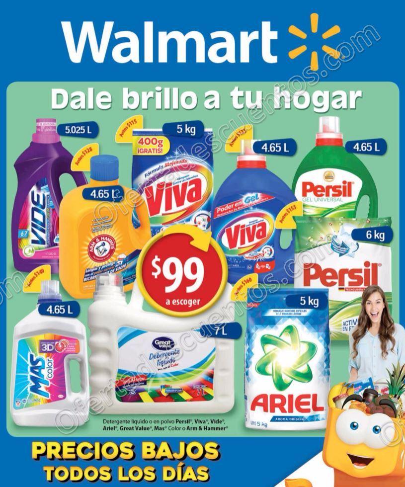 """Walmart: Folleto de Promociones """"Dale brillo a tu hogar"""" del 7 al 17 de Enero 2017"""