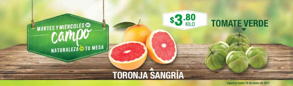 Frutas y Verduras del Campo Comercial Mexicana 17 y 18 de Enero 2017