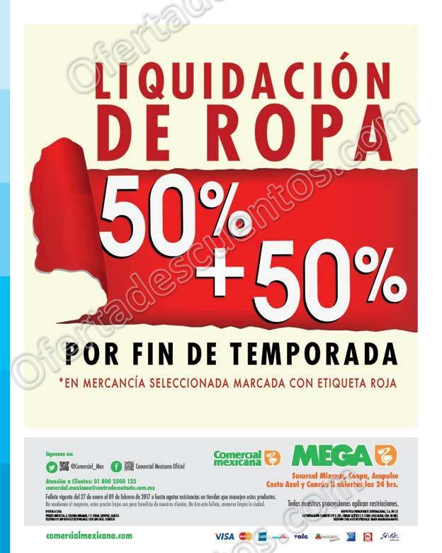 Comercial Mexicana: Folleto de Promociones productos a mitad de precio al 9 de Febrero