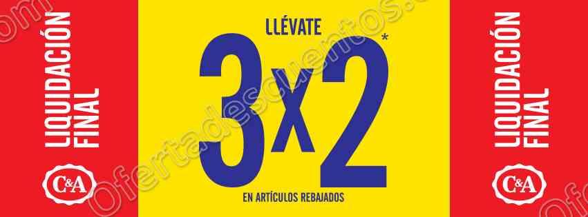 C&A: Liquidación final 3×2 en artículos ya rebajados del 27 de enero al 2 de febrero