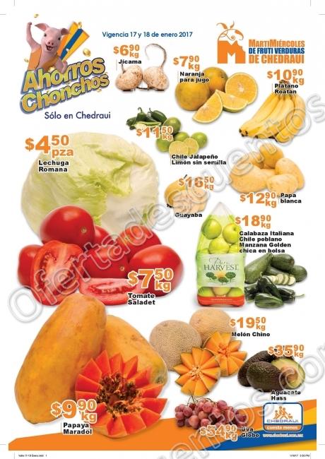 Frutas y Verduras Chedraui 17 y 18 de Enero 2017