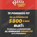 Promociones super barata marti inscripcion gratis a Smart Fit OFFDE
