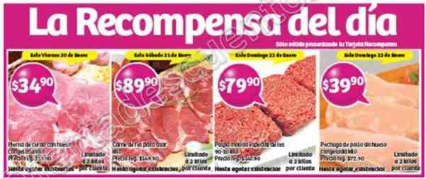 Soriana: Promociones Tarjeta Recompensas del 20 al 23 de Enero