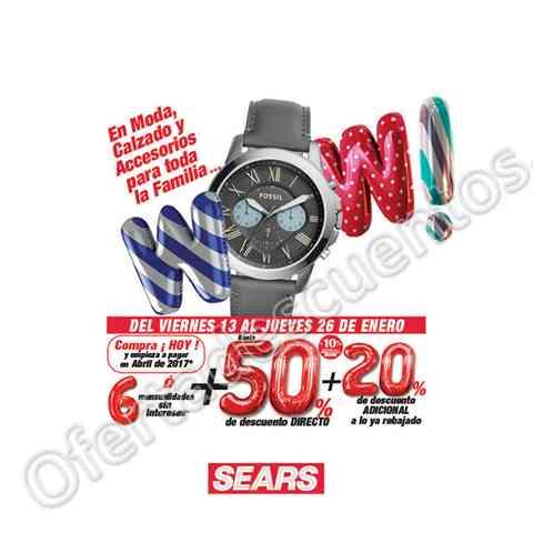 Sears: Segundas Rebajas Wow hasta 50% de descuento más hasta 20% adicional en moda, calzado y accesorios