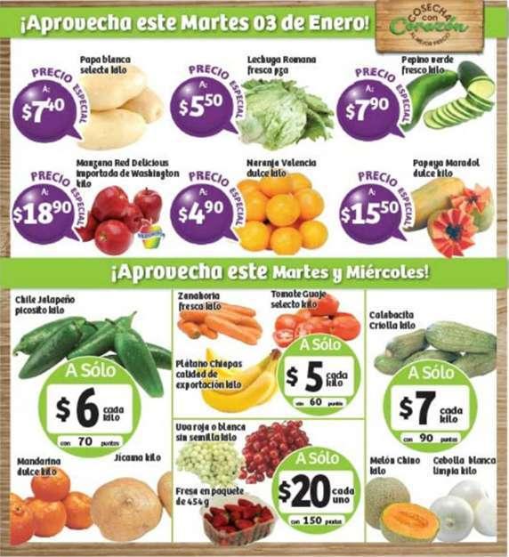 Frutas y Verduras Soriana 3 y 4 de Enero 2017