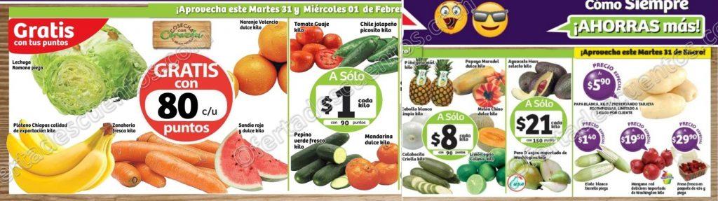 Frutas y Verduras Soriana 31 de enero y 1 de febrero