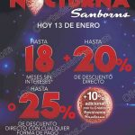 Venta nocturna Sanborns 13 de enero OFFDE