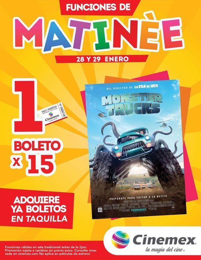 Cinemex: 1 Boleto para Monster Truks Matinée por $15