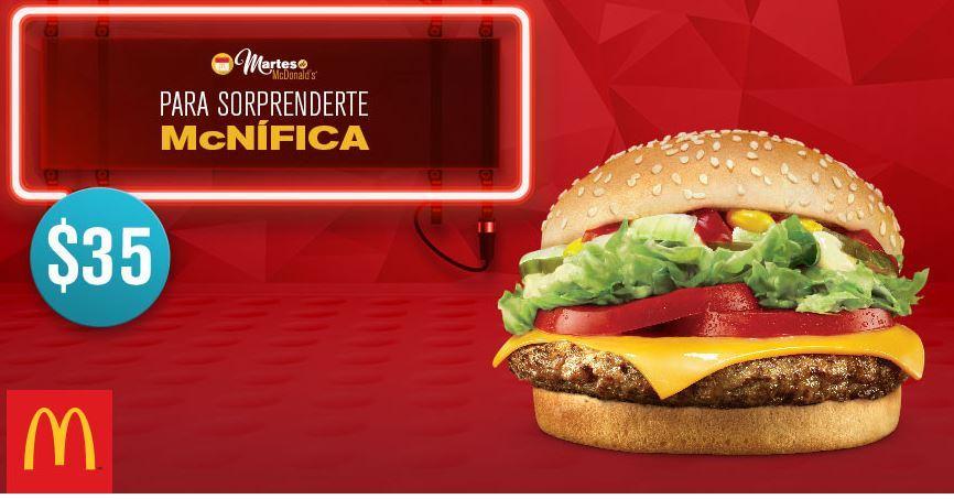 McDonald's: Cupón Martes 24 de enero McNífica a sólo $35