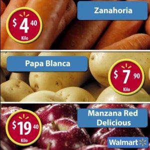 Frutas y Verduras Martes de Frescura Walmart 24 Enero