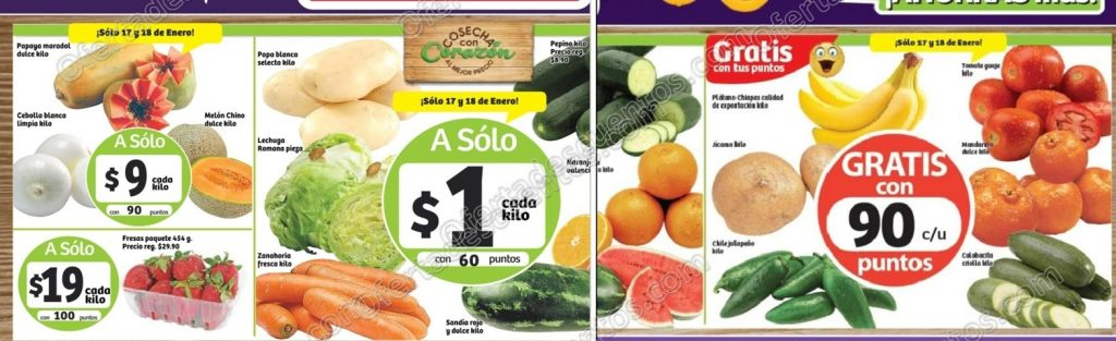 Ofertas Frutas y Verduras Soriana 17 y 18 de Enero 2017