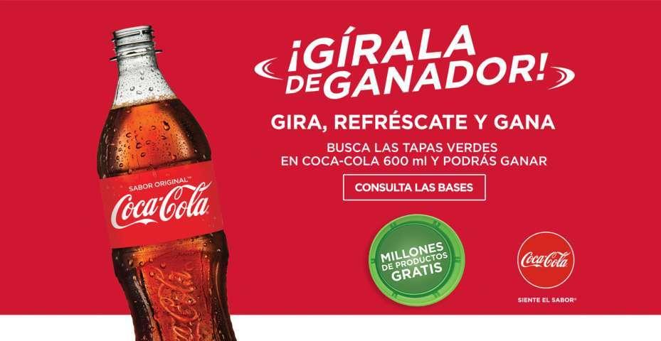 Promoción Tapas Verdes Coca Cola 2017 Millones de Productos Gratis