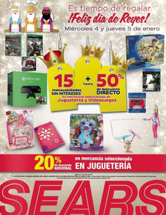Sears: Promociones Día de Reyes 4 y 5 de Enero