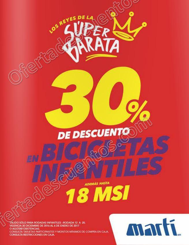 Martí: Promoción Día de Reyes 30% de descuento en Bicicletas Infantiles
