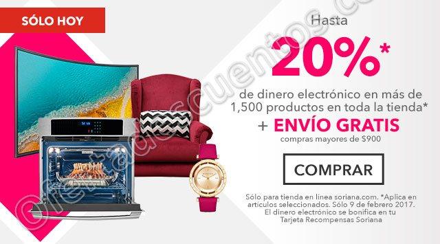 Soriana: 20% en monedero electrónico más envío gratis en más de 1,500 productos