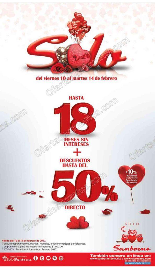 Sanborns: Venta Especial Días del Amor y la Amistad del 10 al 14 de Febrero