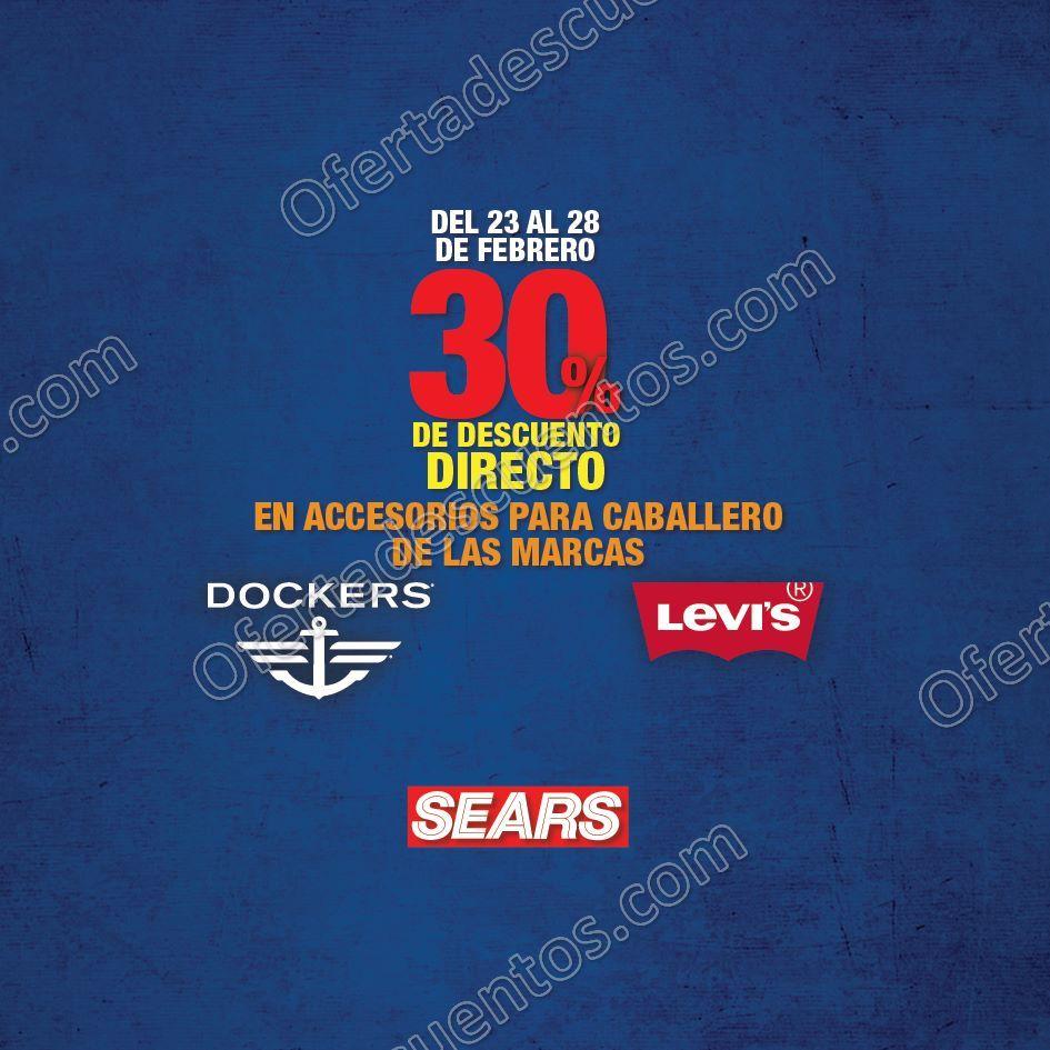 Sears: 30% de descuento en accesorios para caballero Levi´s y Dockers del 23 al 28 de Febrero