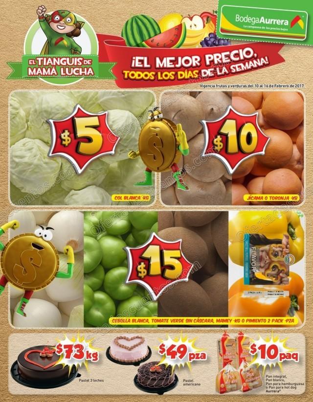 Bodega Aurrerá: Frutas y Verduras del Folleto Tianguis de Mamá Lucha del 10 al 16 de Febrero