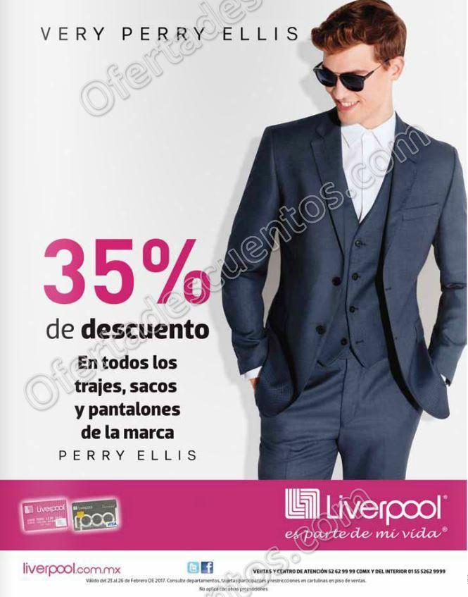 2da5fea52 Liverpool  35% de descuento en todos los trajes Perry Ellis del 23 al 26 de  Febrero