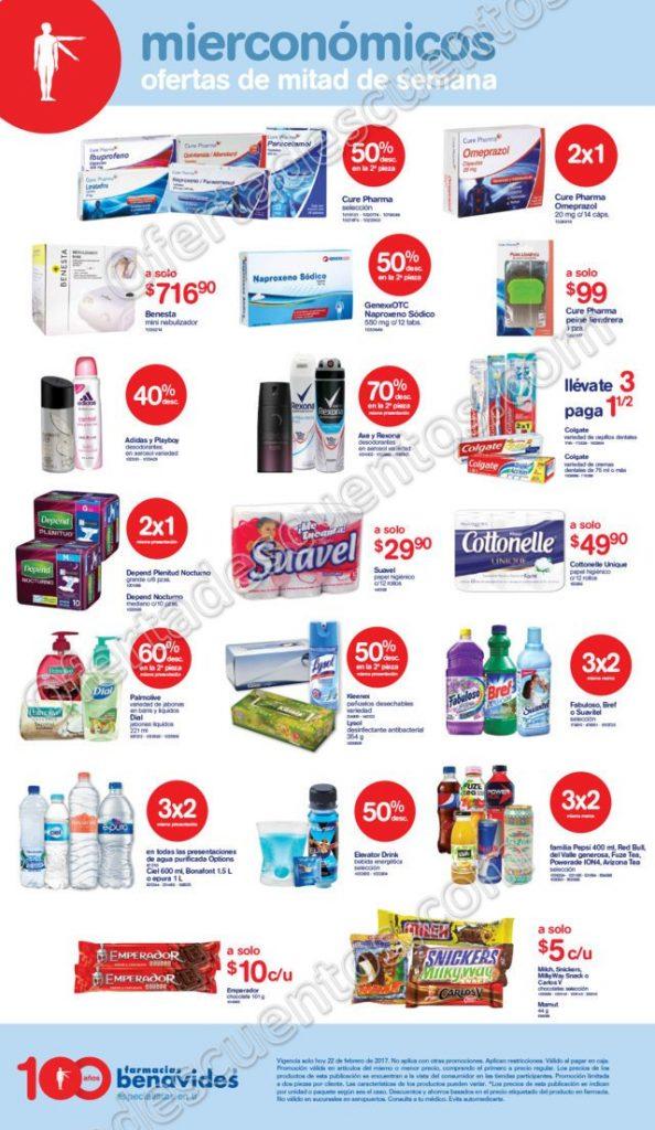 Farmacias Benavides: Mierconómicos ofertas de mitad de semana 22 de Febrero