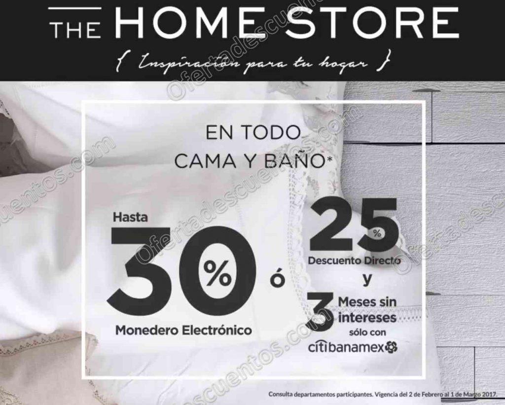 The Home Store: 25% de descuento directo más 3 meses sin intereses en todo Cama y Baño