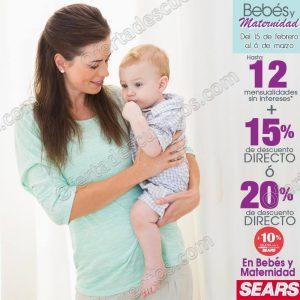 713ebd9a1 Sears  15% de descuento más hasta 12 meses sin intereses en Bebés y  Maternidad