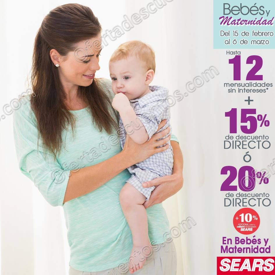 Sears: 15% de descuento más hasta 12 meses sin intereses en Bebés y Maternidad al 6 de Marzo