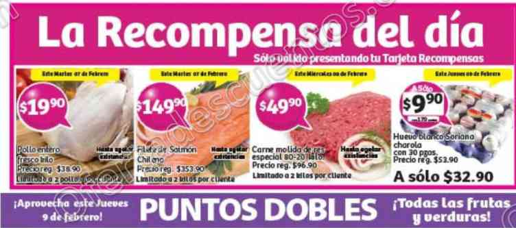 Soriana: Promoción Tarjeta Recompensa del 7 al 9 de Febrero