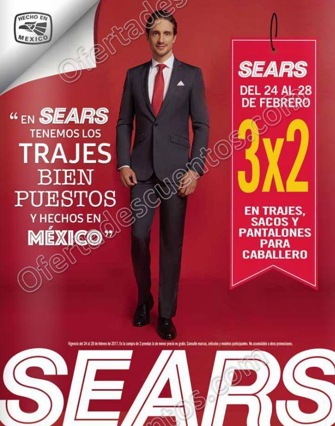 Sears: 3×2 en Trajes, Pantalones y Sacos para Caballero del 24 al 28 de Febrero