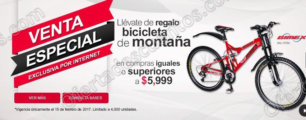Office Depot: Venta Especial por Internet 15 de Febrero compra $5,999 o más y llévate de regalo Bici de Montaña