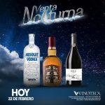 Venta nocturna vinoteca 22 de febrero