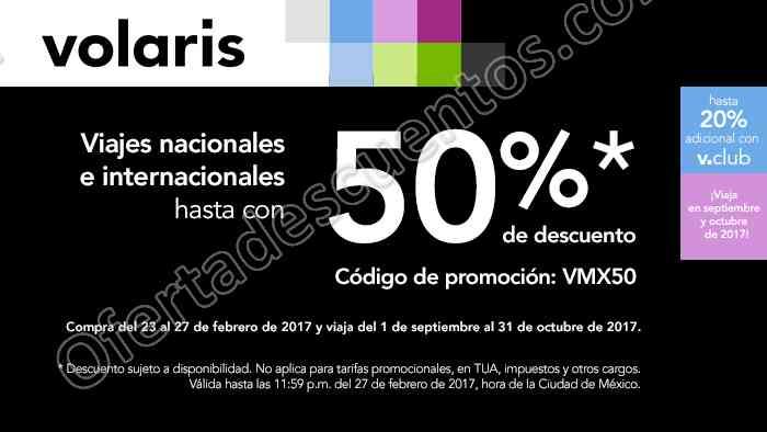 Volaris: Hasta 50% de descuento en vuelos nacionales e internacionales más 20% adicional con VClub