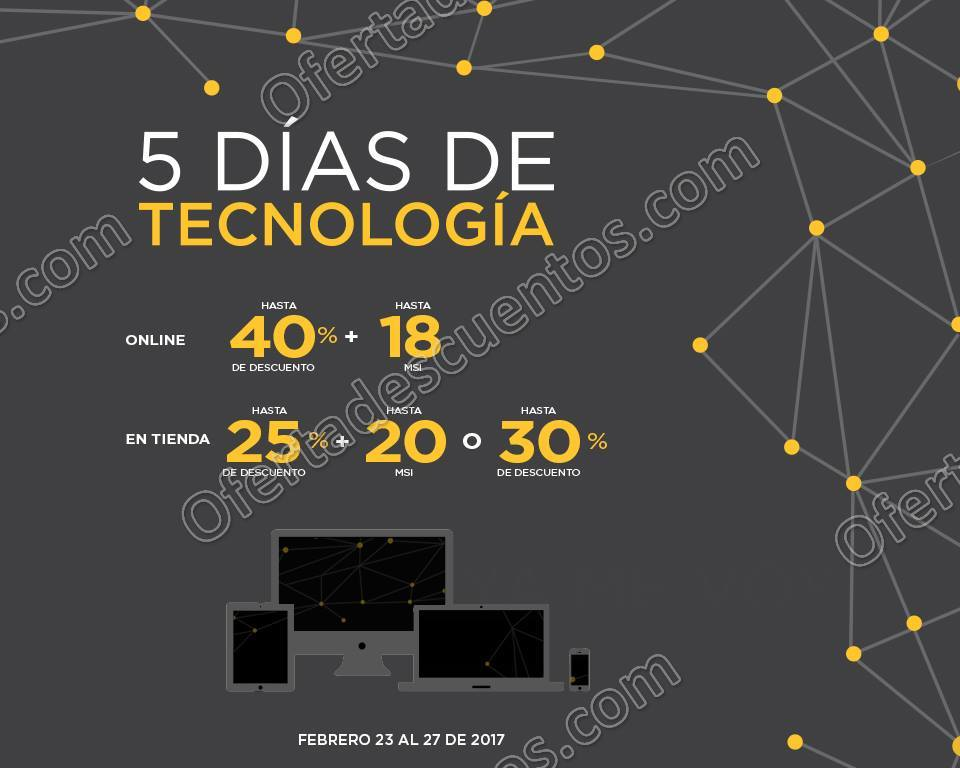 Palacio de Hierro: 5 Días de Tecnología del 23 al 27 de Febrero