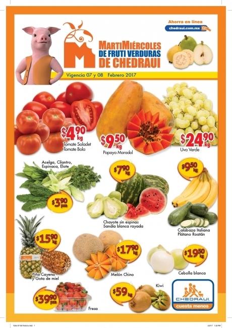 Frutas y Verduras Chedraui 7 y 8 de Febrero 2017