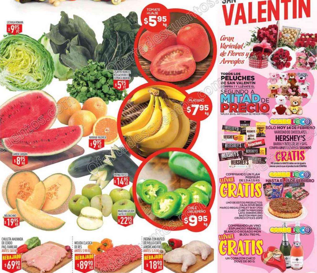 Ofertas de Frutas y Verduras HEB del 14 al 16 de Febrero
