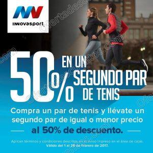 Innovasport: 50% de descuento en el segundo par de Tenis al 28 de Febrero