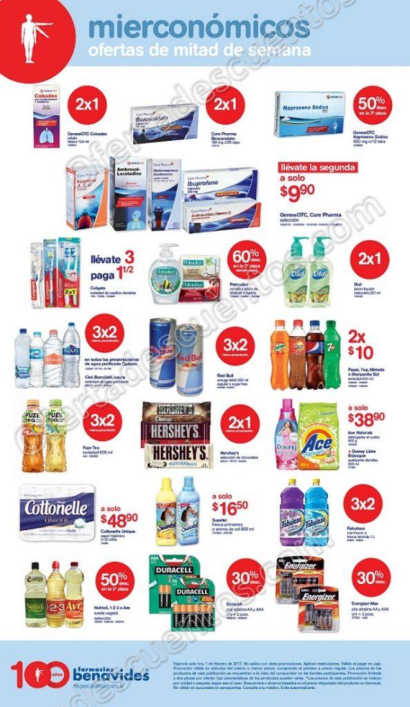 Farmacias Benavides: Ofertas del Mierconómicos 1 de Febrero