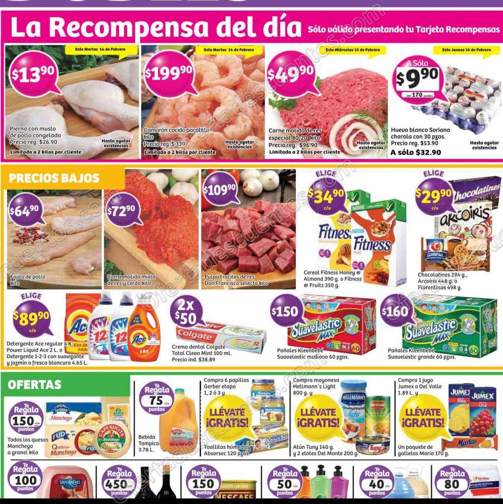 Soriana: Promociones Tarjeta Recompensa de los Días 14 al 16 de Febrero