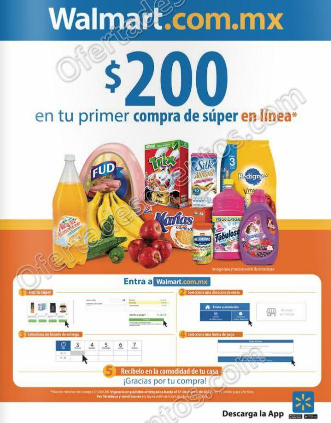 Walmart: $200 de descuento al realizar tu primera compra de Súper en Línea