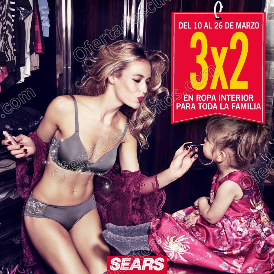 Sears: 3×2 en ropa interior para toda la familia del 10 al 26 de Marzo